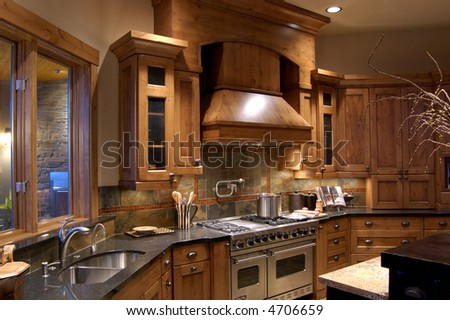 Beautiful Modern Kitchen Stock Photo 4706659 : Shutterstock