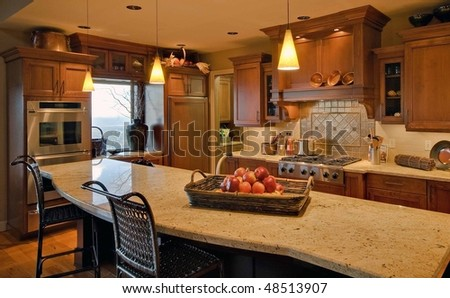 Beautiful Modern Kitchen Stock Photo 48513907 : Shutterstock