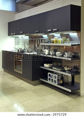 Beautiful Modern Kitchen High-end showroom furniture