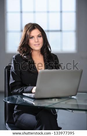 Beautiful Modern Professional Business Woman in Loft