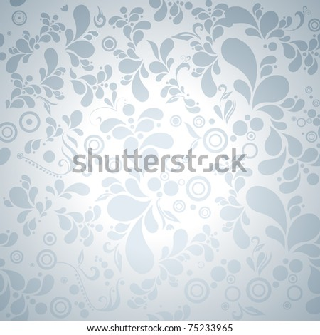 Beautiful modern silver seamless floral background illustration