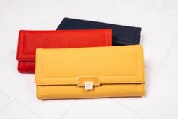 Beautiful modern women's leather wallets.