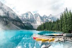 Beautiful Moraine lake in Banff national park in Alberta, Canada