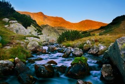 beautiful morning at Rila mountain