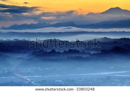 beautiful  morning in the mountains - Shutterstock ID 33803248