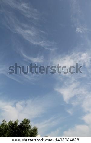 Beautiful morning sky with clouds in Dubai #1498064888