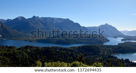 Beautiful mountain and lake landscape of Bariloche #1372694435