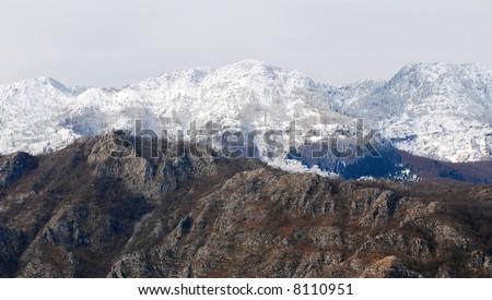 Beautiful mountain in Montenegro - stock photo
