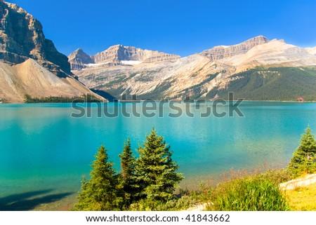 Beautiful mountain lake, Jasper National Park, Canada, Alberta