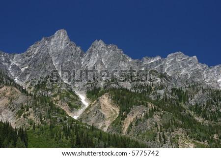 Beautiful mountain landscape in British Columbia. Glacier National Park of Canada.