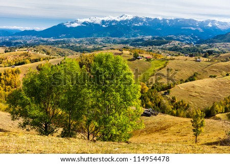 Beautiful mountain landscape in the autumn