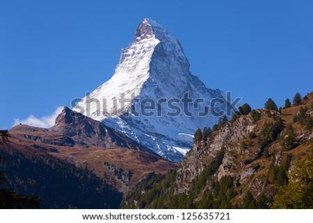 Beautiful mountain Matterhorn , Swiss Alps
