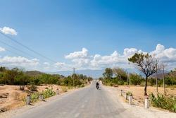Beautiful mountain panorama taken on motorbike trip from Cam Ranh to Dalat, Vietnam. Khanh Hoa, Ninh Thuan and Lam Dong province.