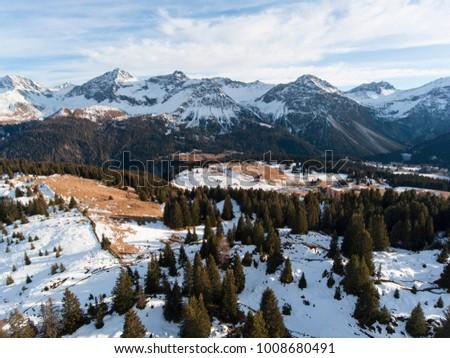 beautiful mountain panorama with autumnal mood #1008680491