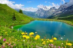 Beautiful mountain scenery with lake