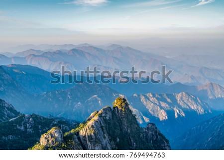 Beautiful mountains and rivers in Mount Huangshan, China - Shutterstock ID 769494763