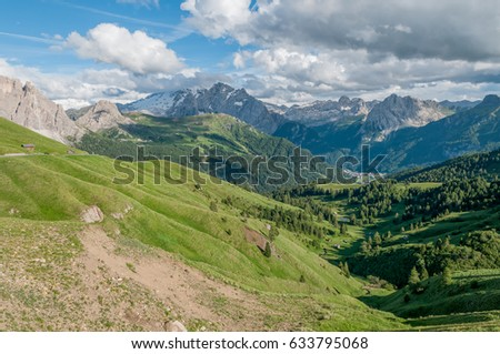 Beautiful mountains at Dolomites, Italy. #633795068