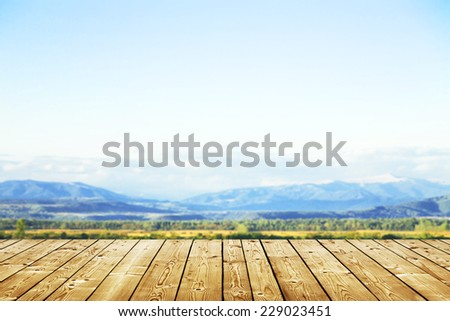 beautiful mountains landscape and sky  #229023451