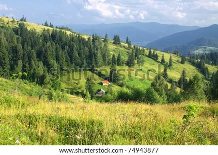 Beautiful mountains landscape in Carpathians, Ukraine