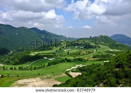 Beautiful mountains view in Shenzhen, china