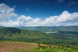 Beautiful mountains with clouds at lonavla hills India