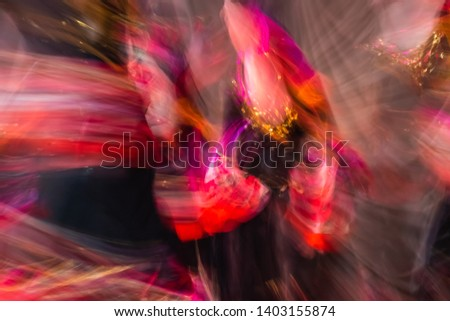 Beautiful movements in dance, shot on long exposure.  Moscow. Russia #1403155874