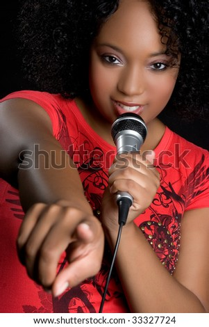 Beautiful Music Woman - stock photo