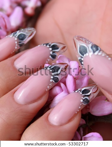 Beautiful nails with gorgeous manicure