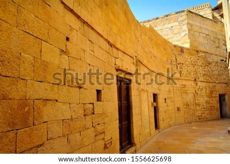 Beautiful narrow lane in Jaisalmir fort in Rajasthan India