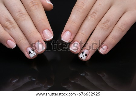 Beautiful Natural Nails Clean Manicure And Nail Art Womens Hands