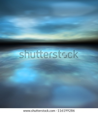 Beautiful nature scenery of twilight over sea. Soft focus