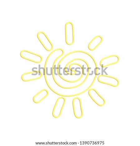 Beautiful neon happy sun illustration