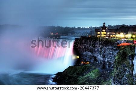 Beautiful Niagara Falls in the Ontario region