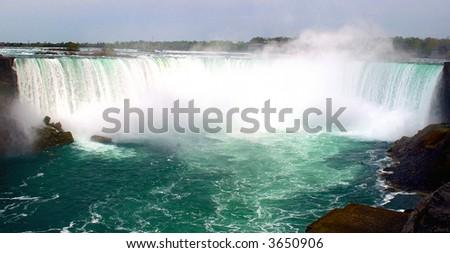 Beautiful Niagara falls with copyspace at the top #3650906