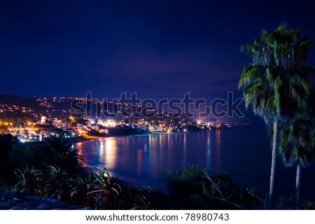 Beautiful night scene of Laguna Beach California
