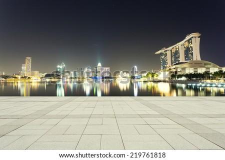 beautiful night scene of urban city