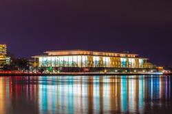 Beautiful night shot of the Kennedy Center in Washington D.C