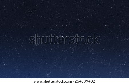Beautiful night sky - Shutterstock ID 264839402