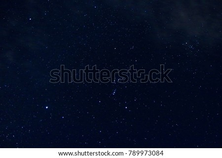 beautiful night sky and stars as background - Shutterstock ID 789973084