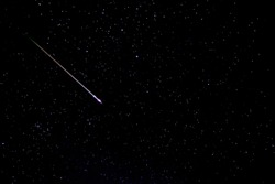 beautiful night sky and stars with meteor or shooting star as background