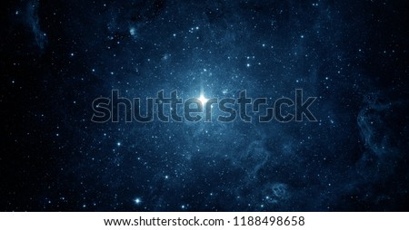 Beautiful night sky, star in the space. Collage on space, science and education items. Elements of this image furnished by NASA.