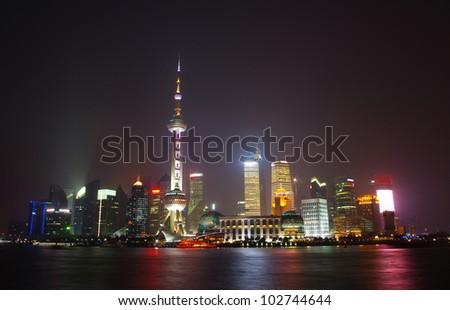 Beautiful night view of Shanghai