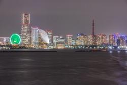 Beautiful night view of Yokohama Minato Mirai