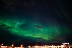 Beautiful Northern Lights in December, Nord-Lenangen, Norway