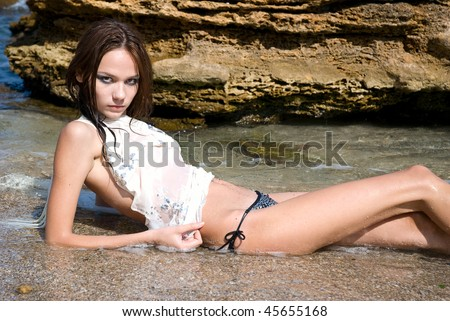 stock photo beautiful nude sexy young girl in the beach 45655168 twinks piss pics