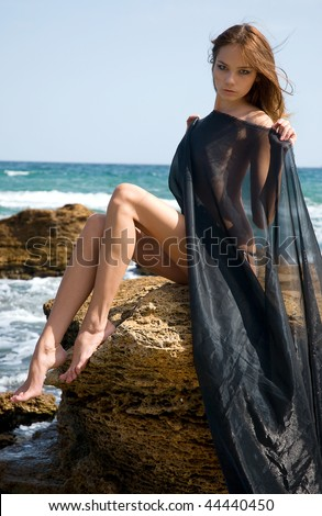 stock photo beautiful nude young girl in the beach 44440450 Long faced robber steals teen's wallet. May 08, 2012