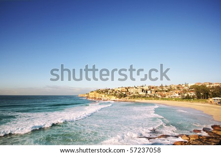 Beautiful ocean beach in Sydney Australia (near Bondi)