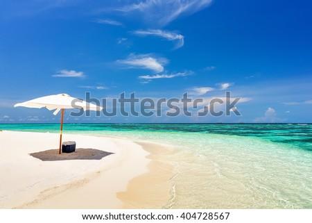 Beautiful ocean beach on Maldives #404728567