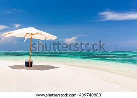Beautiful ocean beach on Maldives #439740880