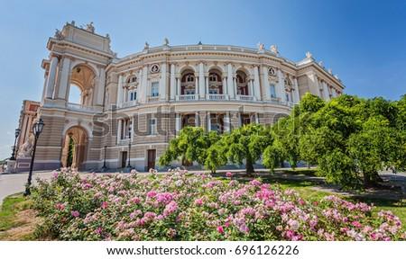 Beautiful Odessa Opera and Ballet Theater, Ukraine #696126226